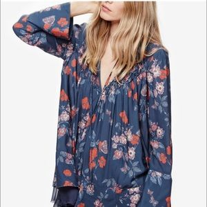 Free People So Fine Printed Peasant Tunic